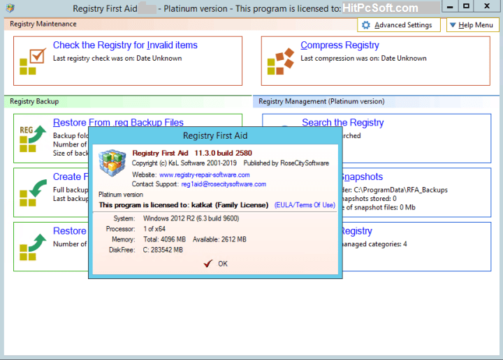 Registry First Aid Platinum 11.3.0.2585 With Crack