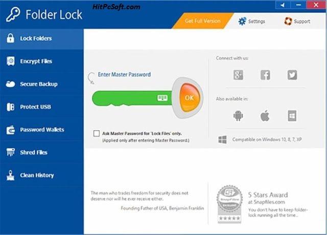 Folder Lock Final Crack 7.8.3 + Keys Free Download