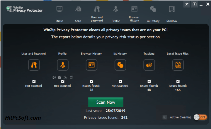 WinZip Privacy Protector Crack 4.0.4 + Free Download