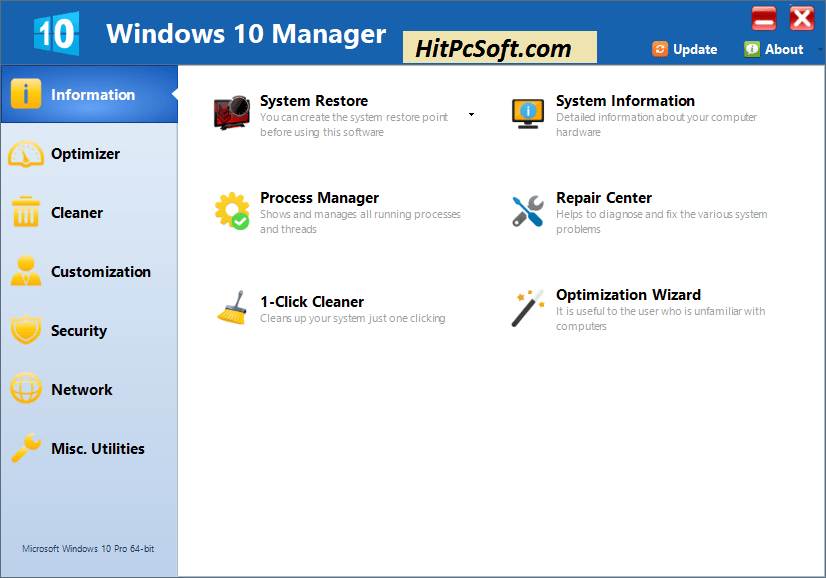 Yamicsoft Window 10 Manager Crack 3.3.6 Free Keys