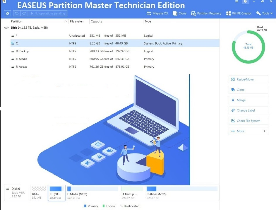 EaseUS Partition Master Crack 15 Free Download