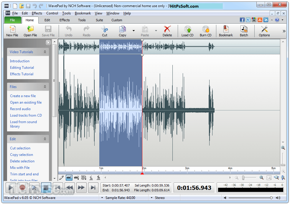 WavePad Sound Editor Crack 11.46 + Registration Code